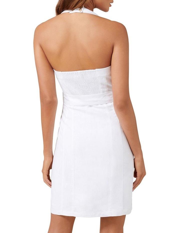 Piper Linen Halter Mini Dress image 4