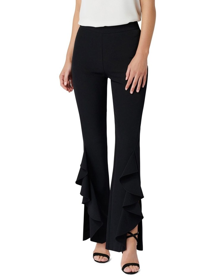 Dominique Ruffle Front Flare Pants image 1