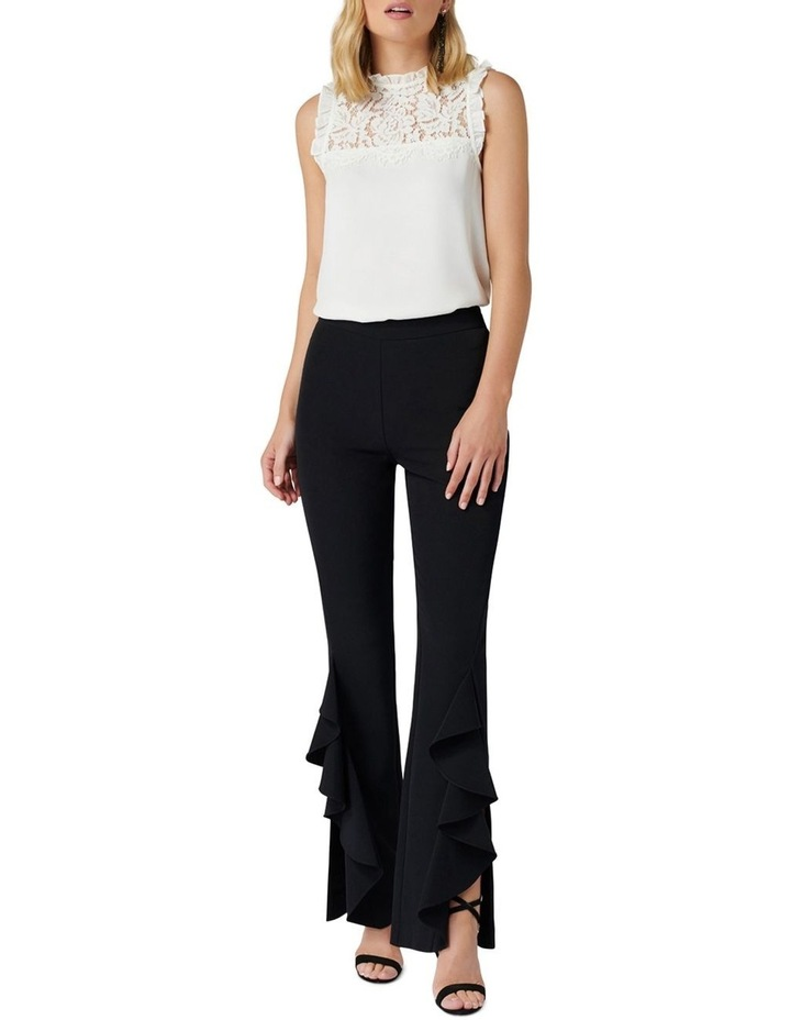 Dominique Ruffle Front Flare Pants image 5