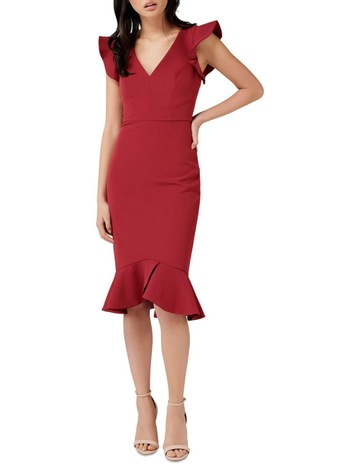 53a3e28f5ded Forever New Montie Frill Sleeve Dress