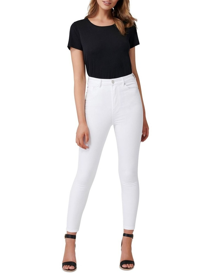Kaia High Rise Crop Jeans image 4