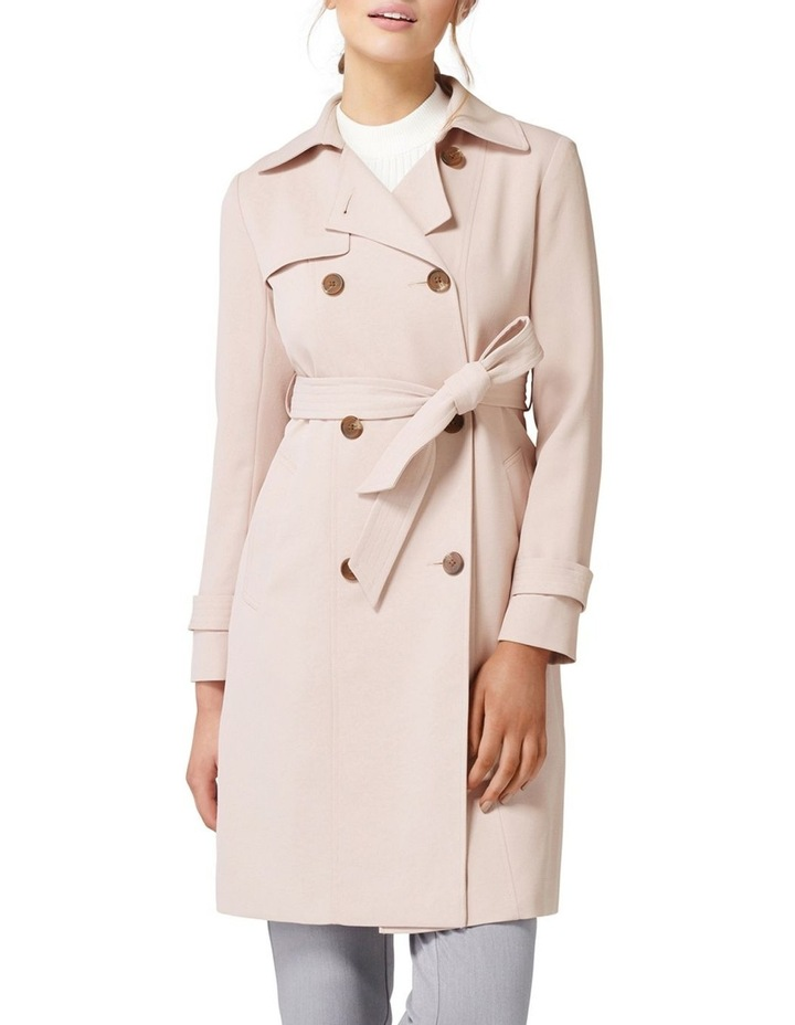 Juliana Long Textured Trench Coat image 1
