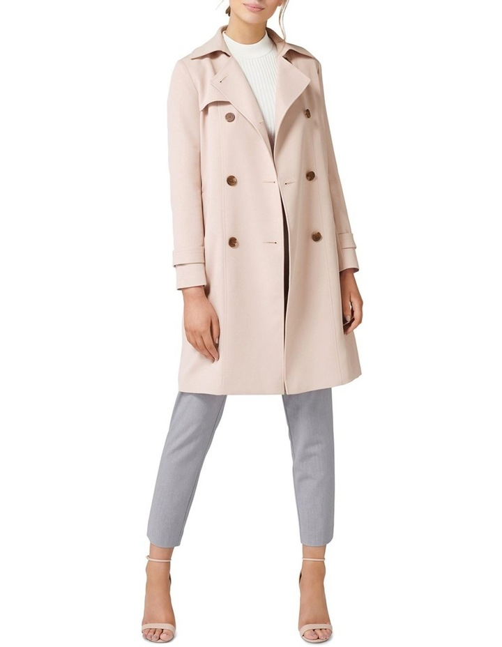 Juliana Long Textured Trench Coat image 2