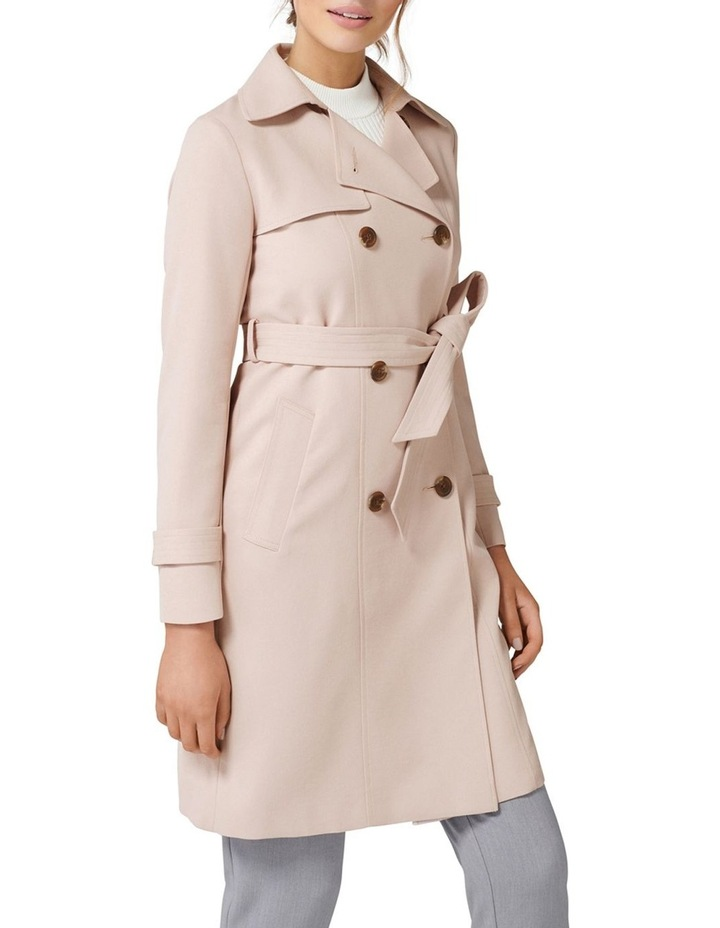 Juliana Long Textured Trench Coat image 3