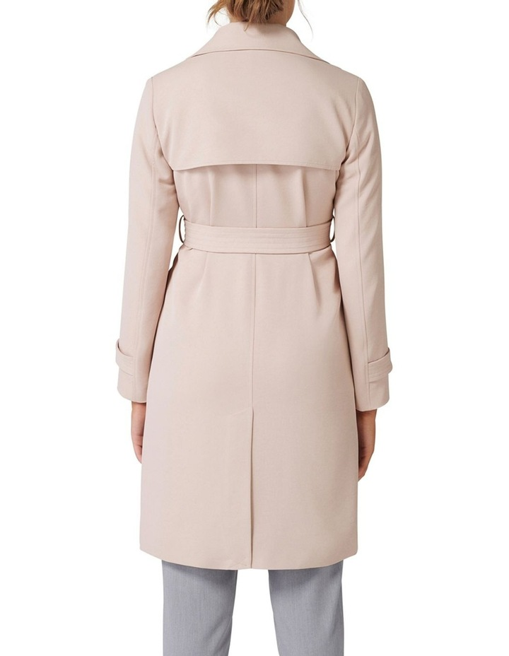 Juliana Long Textured Trench Coat image 4