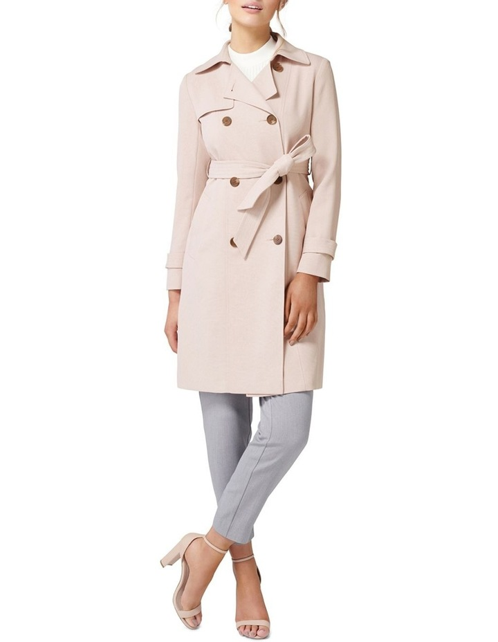 Juliana Long Textured Trench Coat image 5