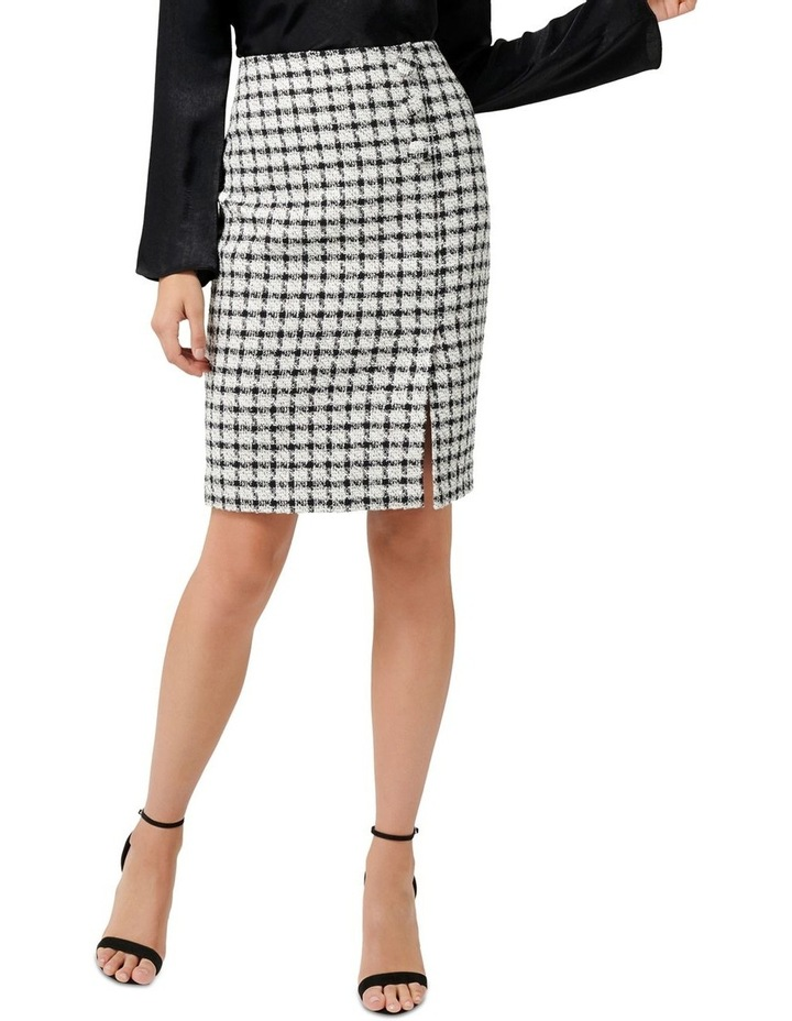 Lucy Boucle Wrap Button Pencil Skirt image 1