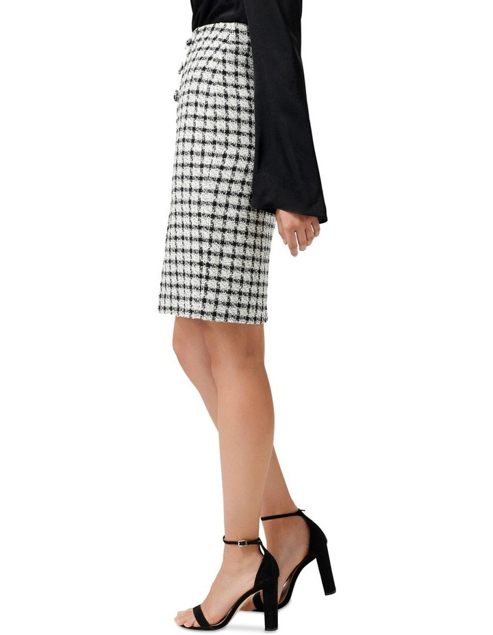 Lucy Boucle Wrap Button Pencil Skirt image 2