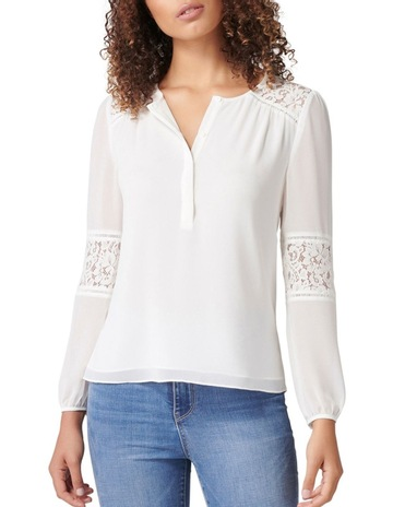 d742a3420c16ed Forever New Lina Lace Spliced Blouse