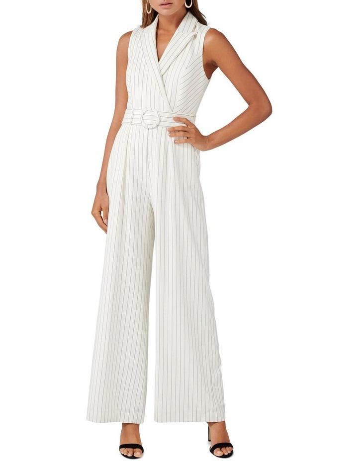 Farrah Stripe Tux Jumpsuit image 1