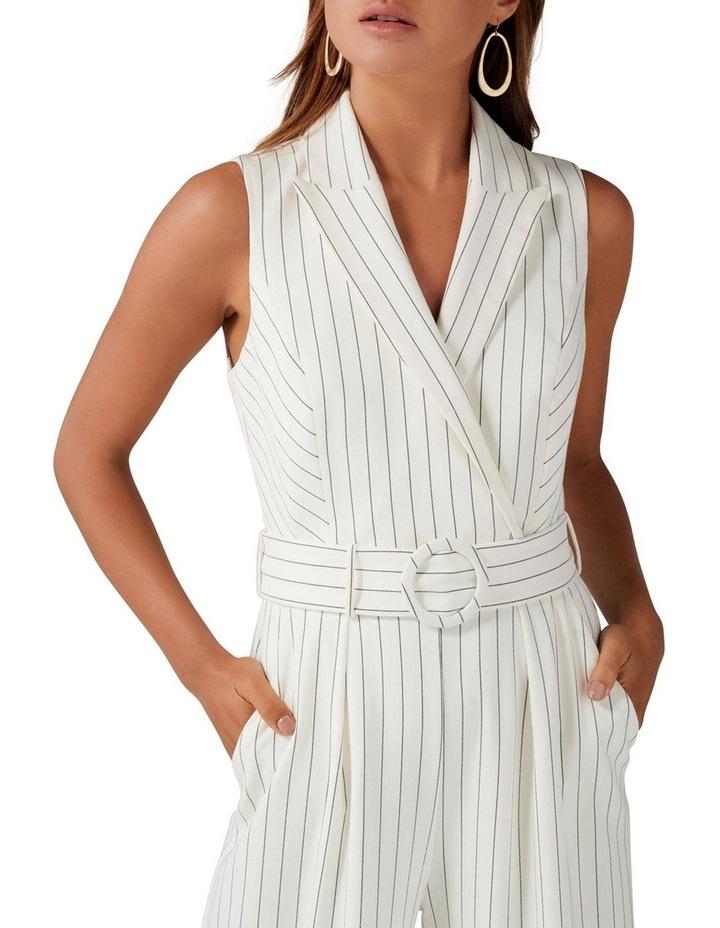 Farrah Stripe Tux Jumpsuit image 2