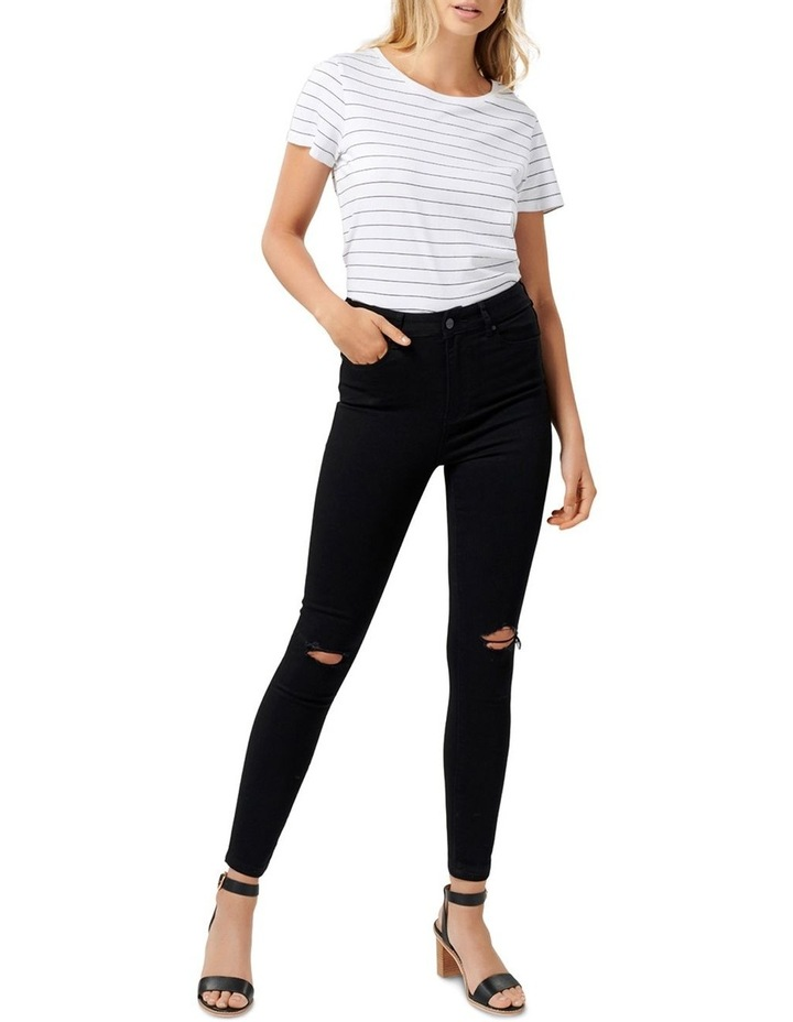 Cleo High Rise Ankle Grazer Jeans image 4