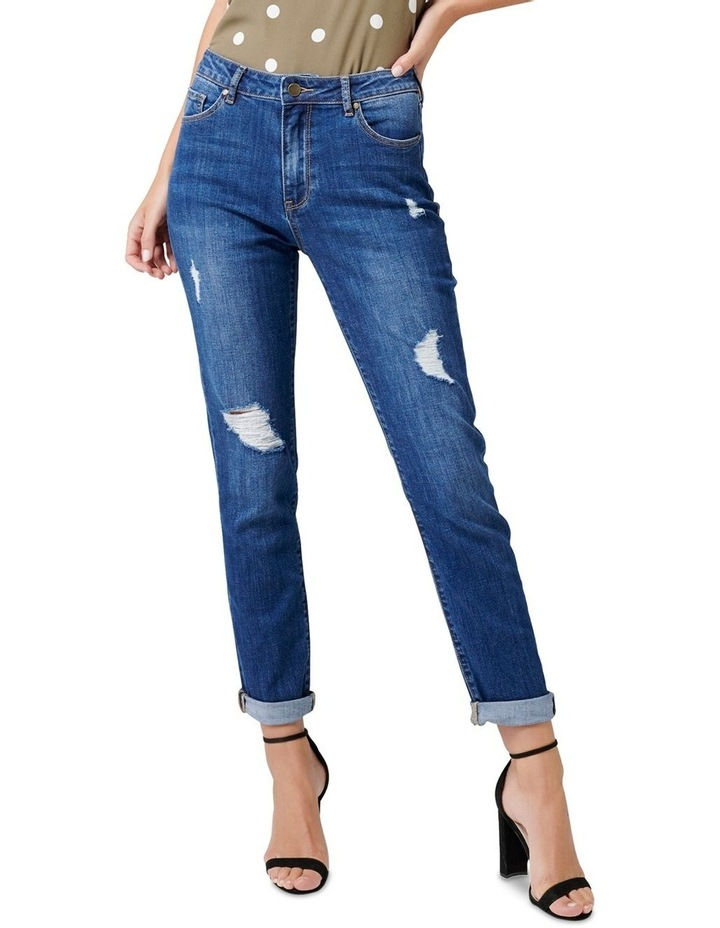 Emmy Mid Rise Girlfriend Jeans image 1