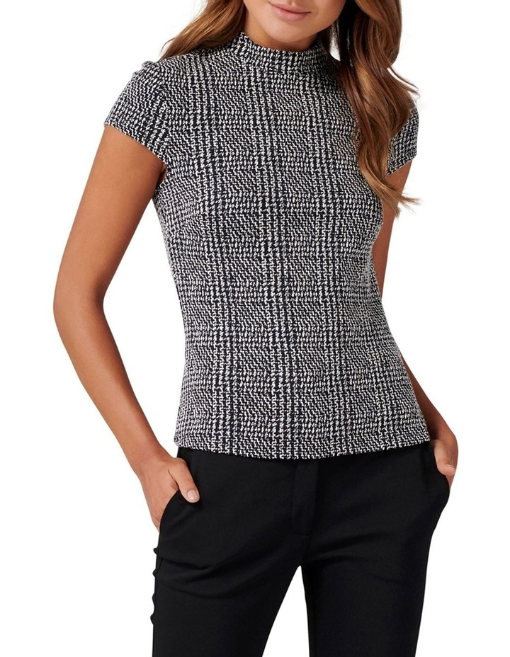 Leonie High Neck Check Top image 1