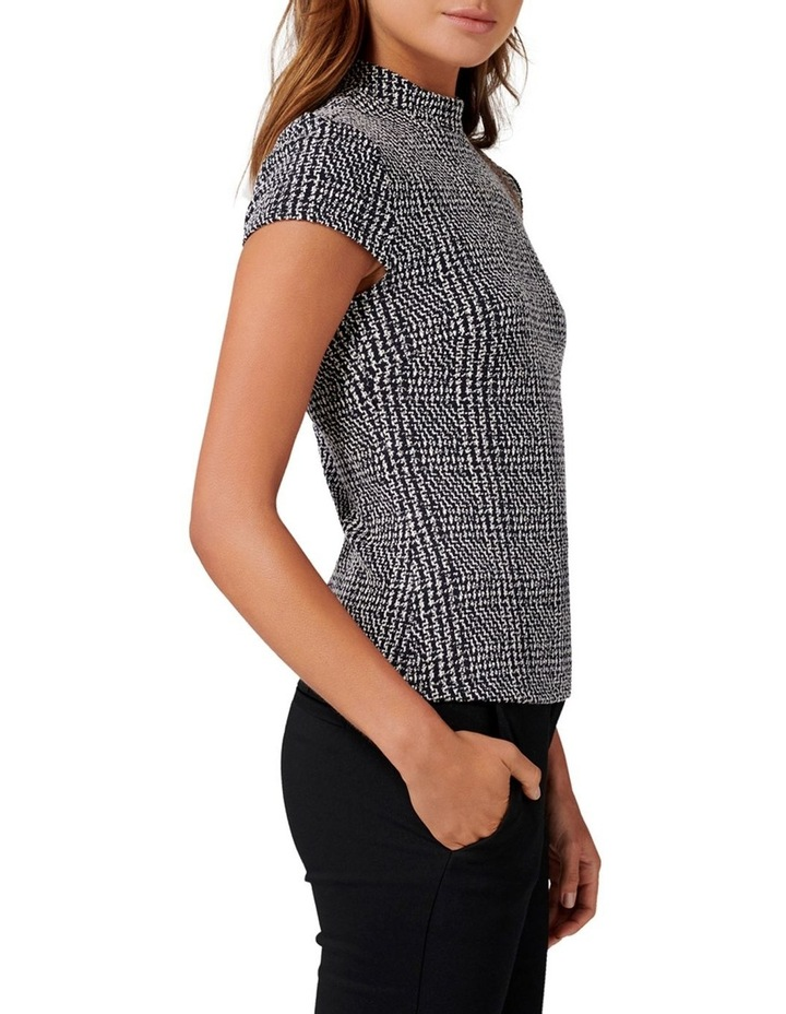 Leonie High Neck Check Top image 2