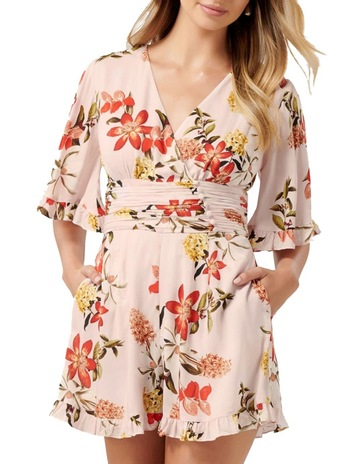 d346dfe9a5 Forever New Fern Flutter Sleeve Playsuit