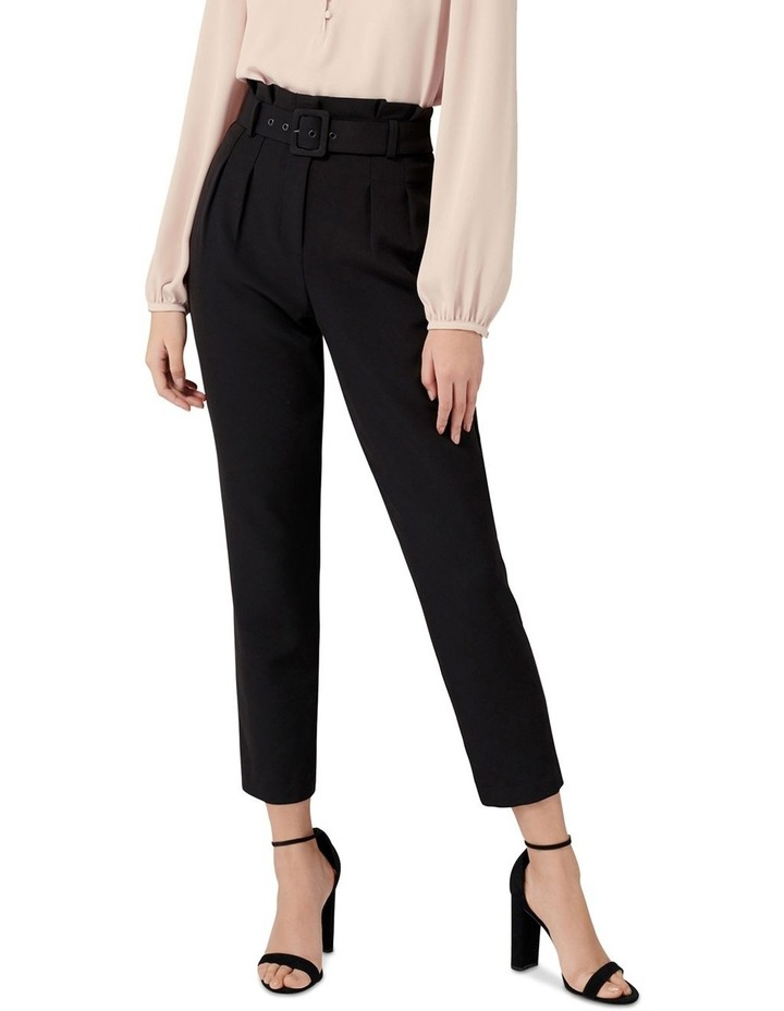 Tori Petite High-Waist Paperbag Slim Pants image 1