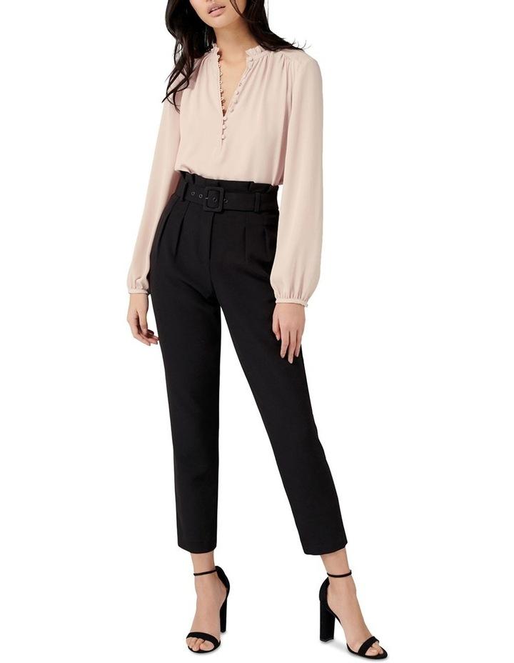 Tori Petite High-Waist Paperbag Slim Pants image 4