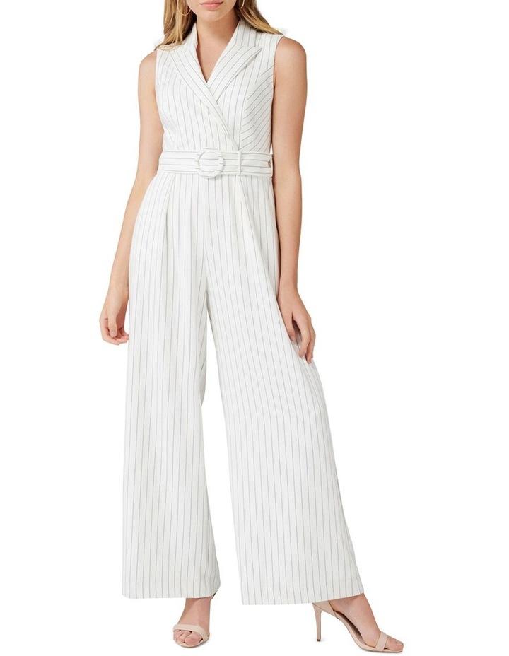 Farrah Petite Stripe Tux Jumpsuit image 1