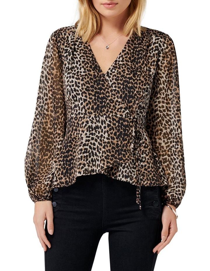Leona Leopard Wrap Blouse image 1