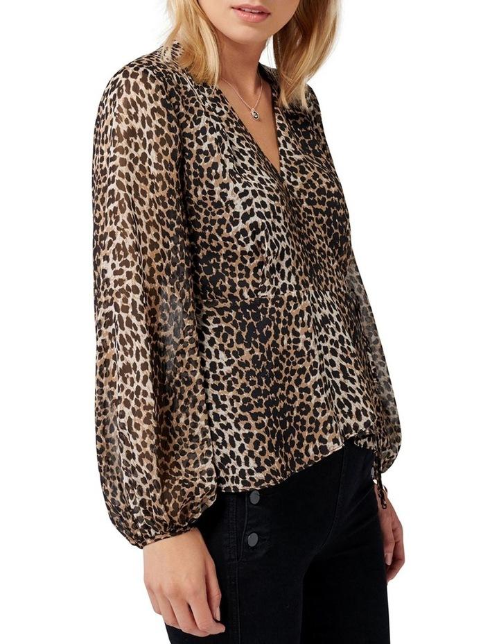 Leona Leopard Wrap Blouse image 2