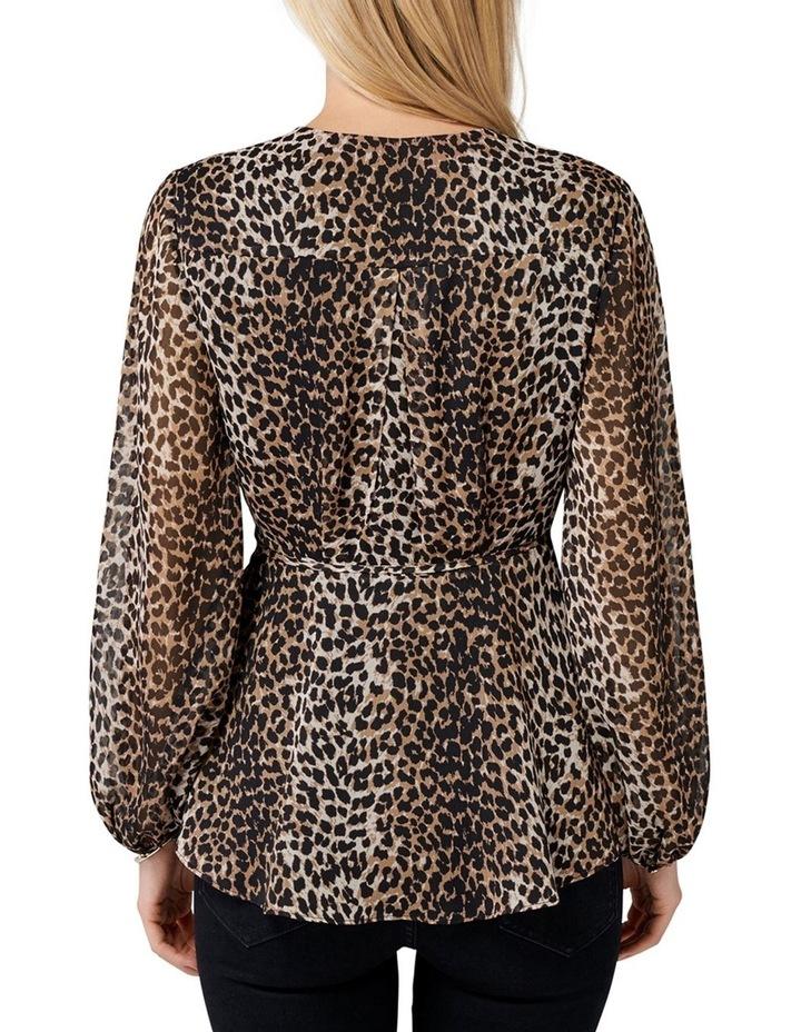 Leona Leopard Wrap Blouse image 3