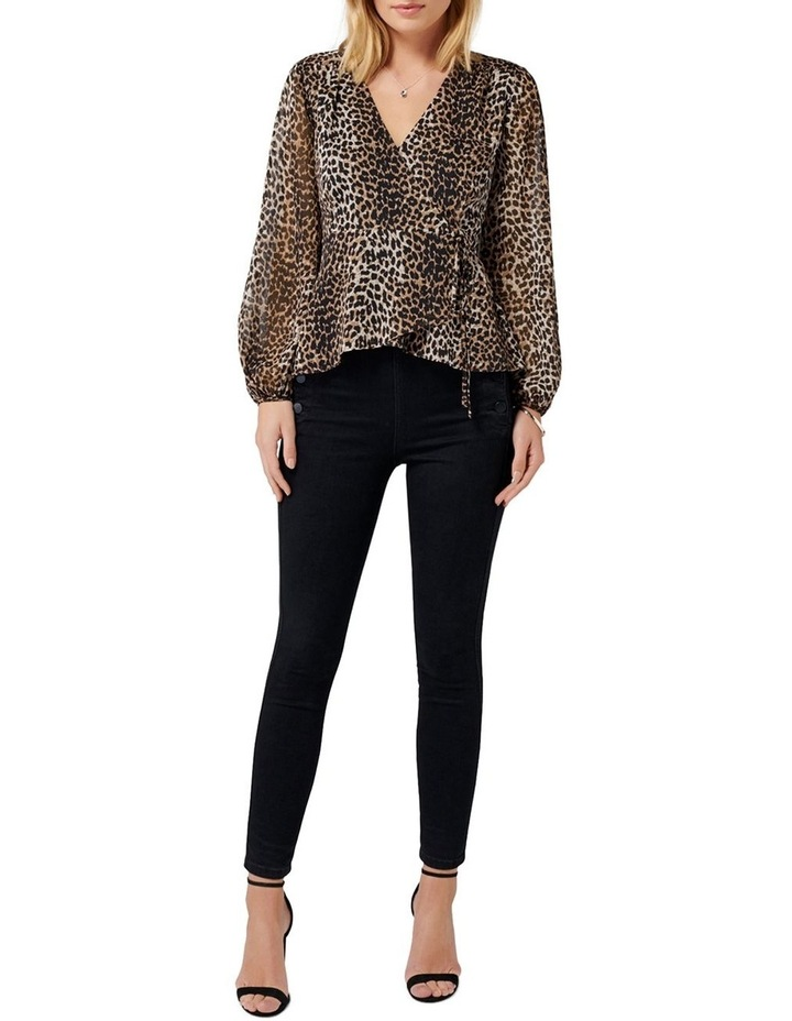 Leona Leopard Wrap Blouse image 4