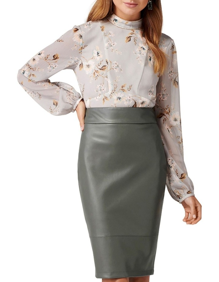 Amy PU Pencil Skirt image 4