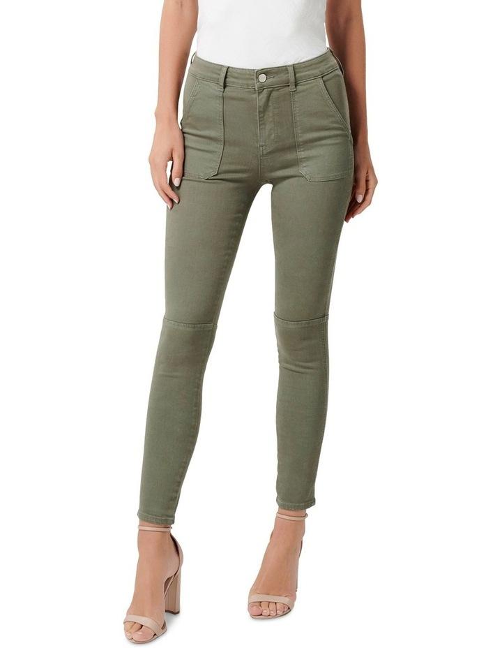 Jessie Mid Rise Cargo Jeans image 1