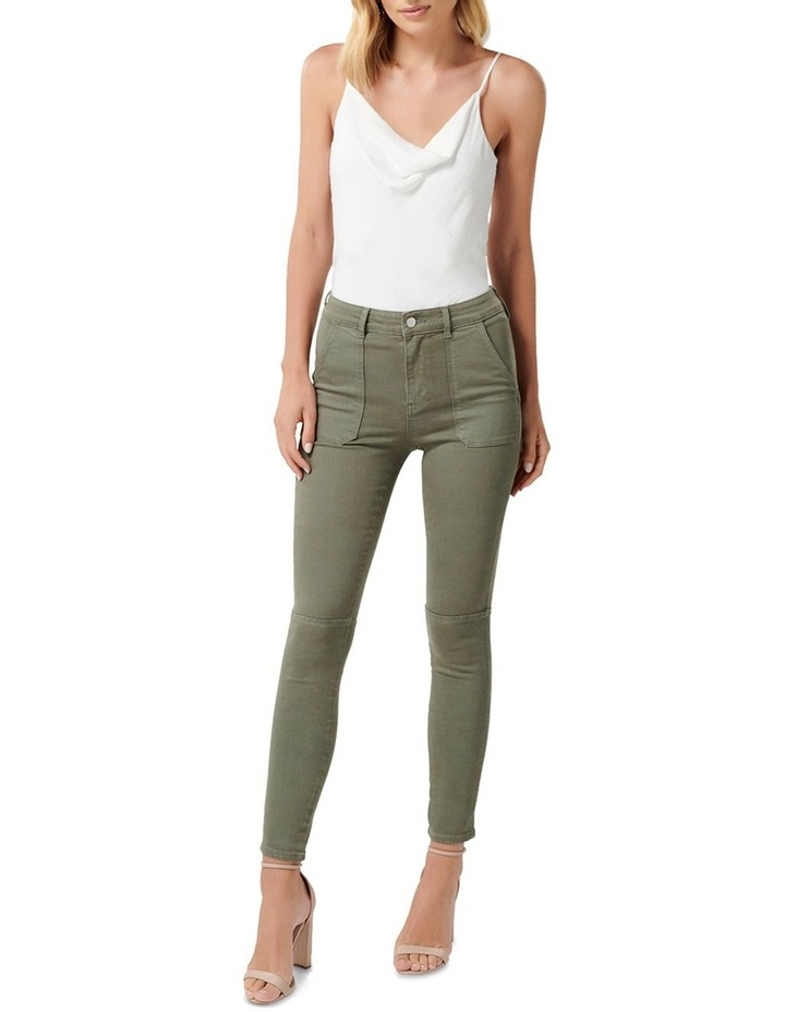 Jessie Mid Rise Cargo Jeans image 4