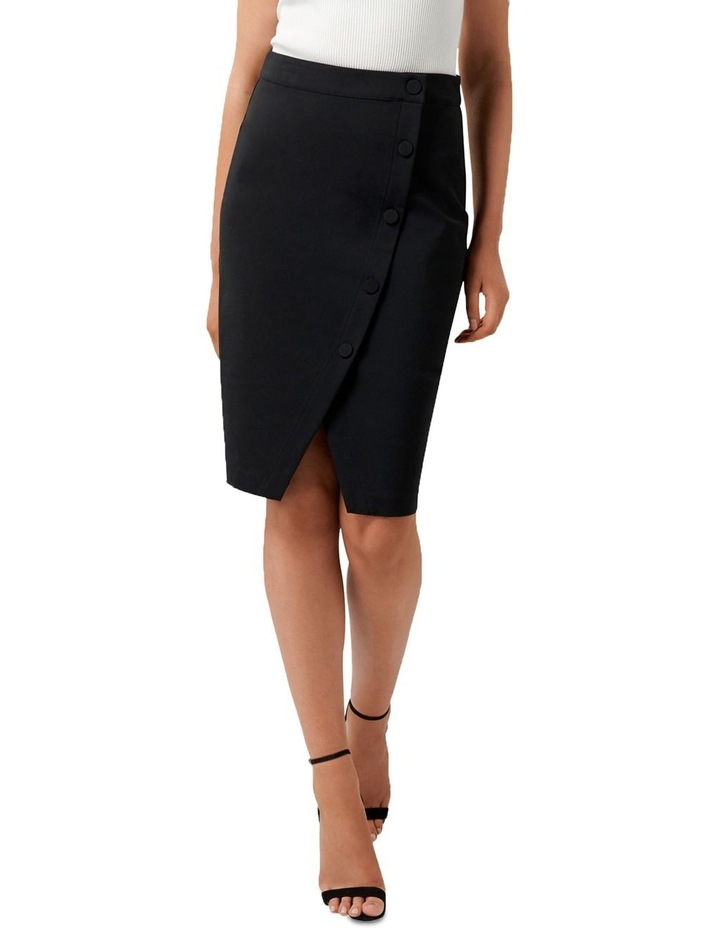 Leanda Button Thru Pencil Skirt image 1
