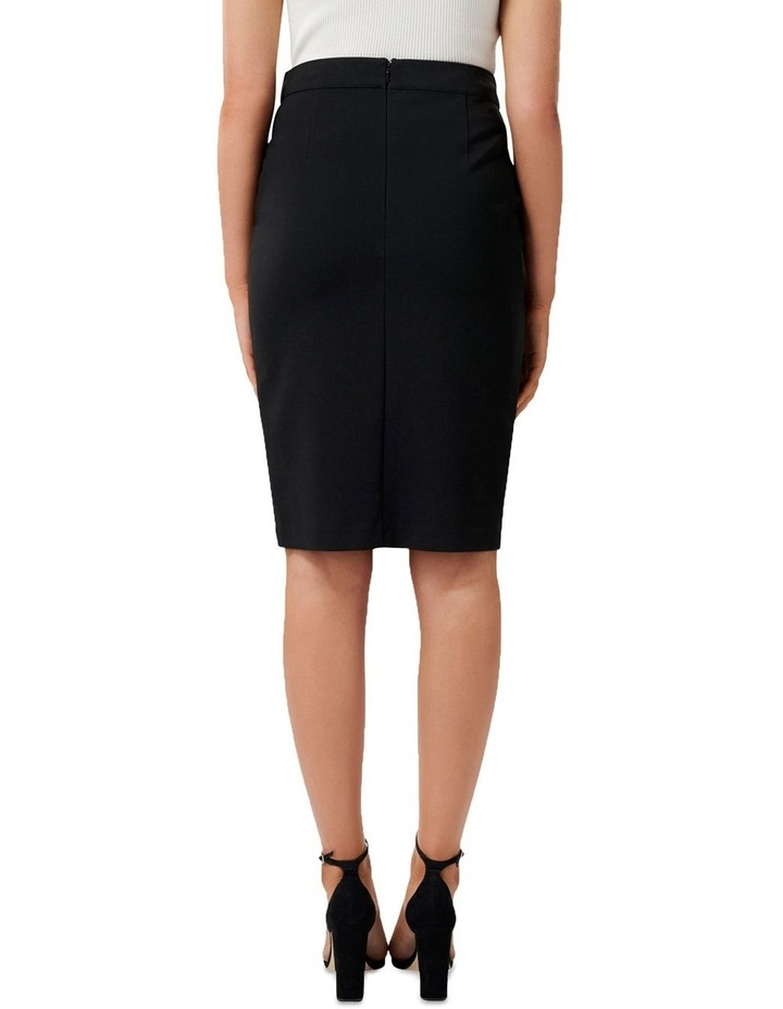 Leanda Button Thru Pencil Skirt image 3