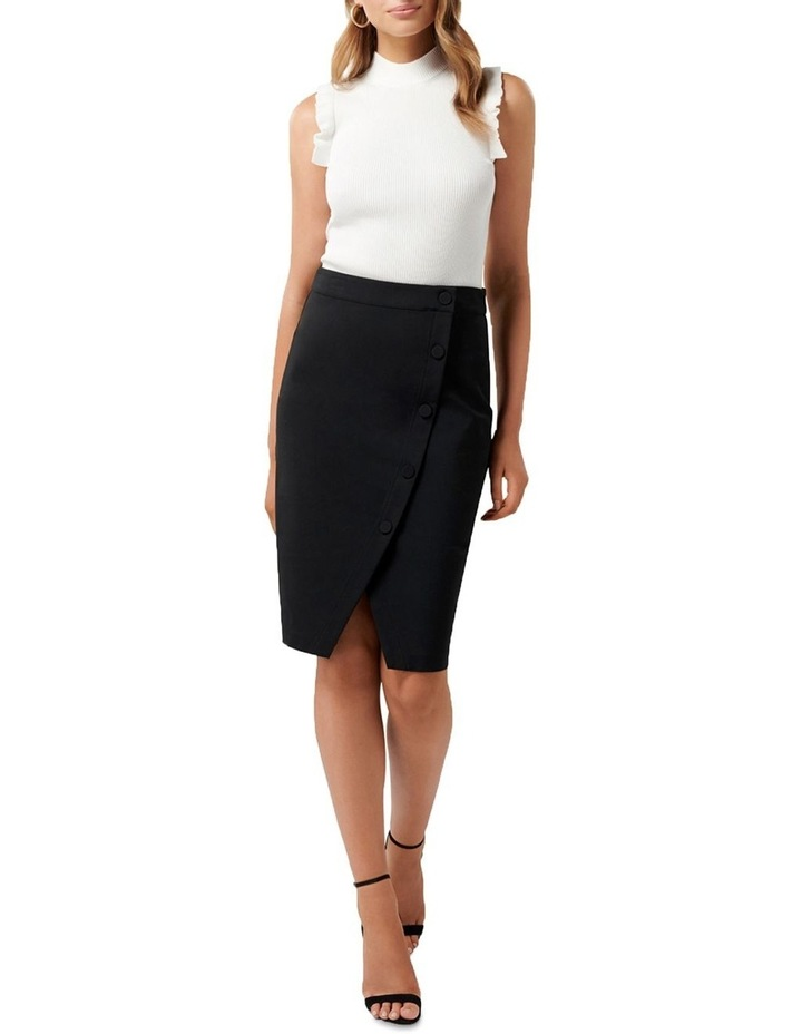 Leanda Button Thru Pencil Skirt image 4