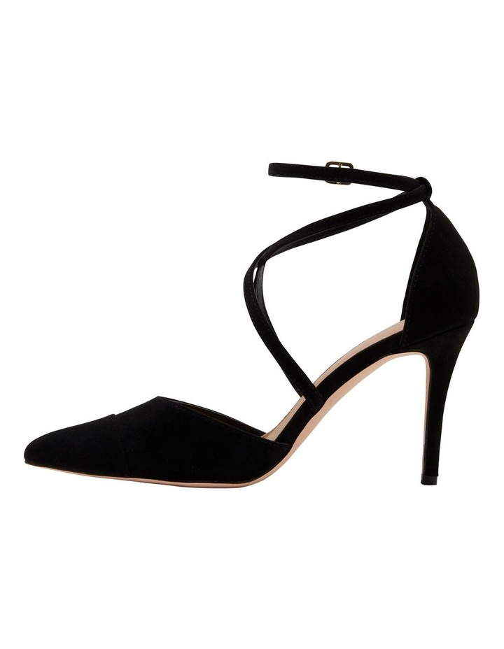 Emily Pointed Cross Strap Court Heels image 1