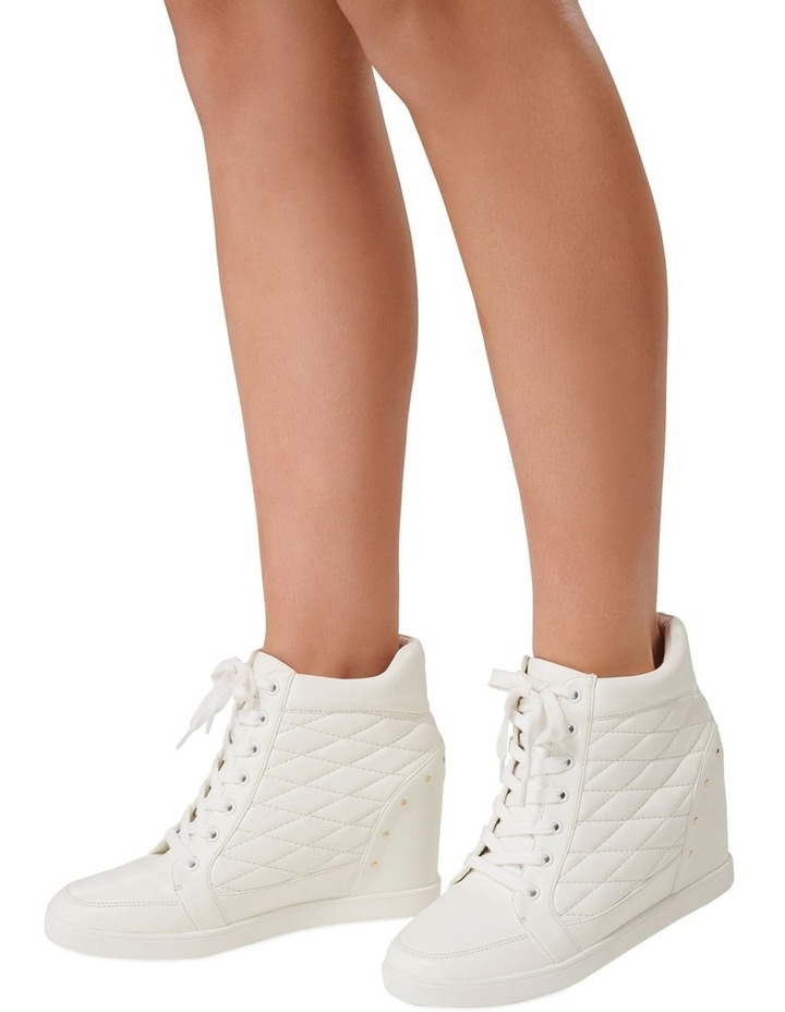 Kyra Quilted Wedge Trainers image 2