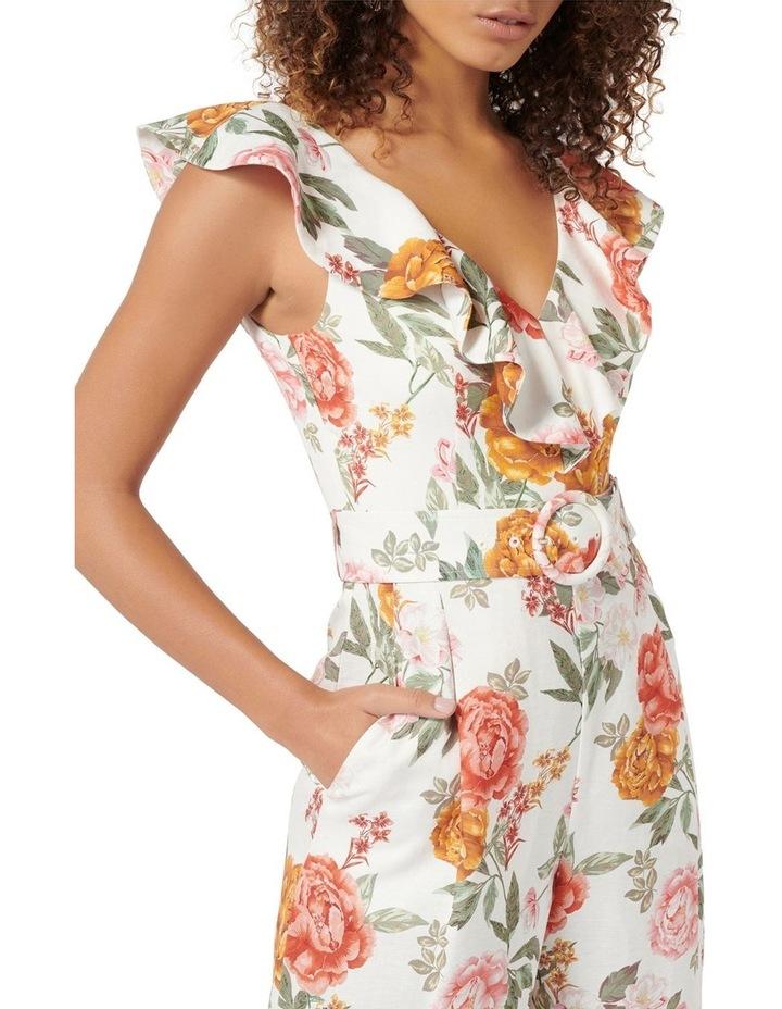 Sage Petite Belted Linen Culotte Jumpsuit image 2