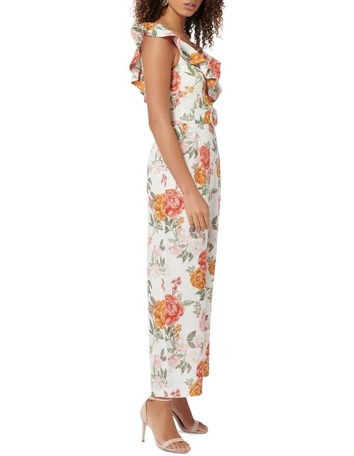 Sage Petite Belted Linen Culotte Jumpsuit image 3