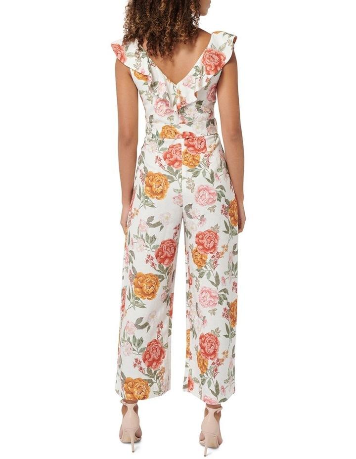 Sage Petite Belted Linen Culotte Jumpsuit image 4