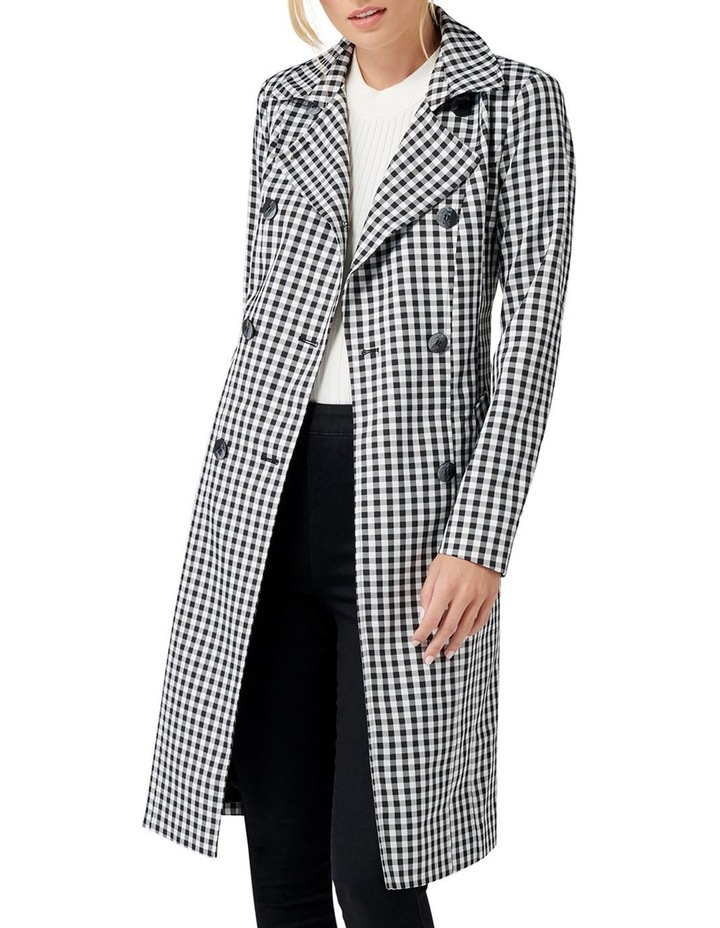 Rinnie Gingham Trench Coat image 1