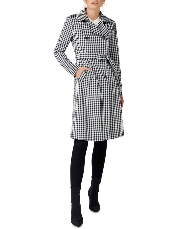 Rinnie Gingham Trench Coat image 2