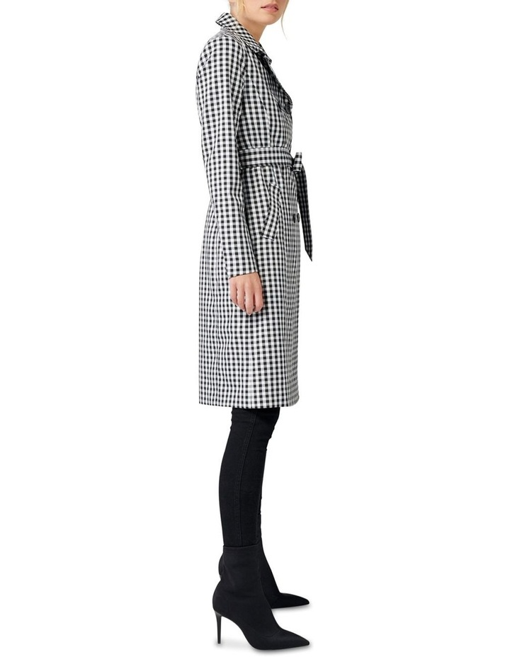 Rinnie Gingham Trench Coat image 3