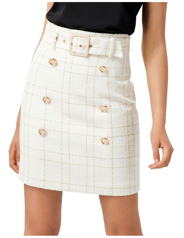 Sunny Boucle Belted Skirt image 1