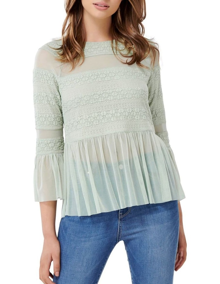 Olivia Lace Tulle Paneled Top image 1
