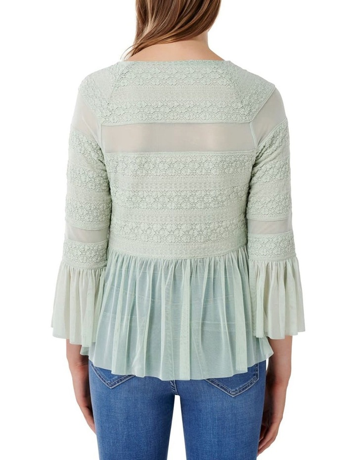 Olivia Lace Tulle Paneled Top image 3