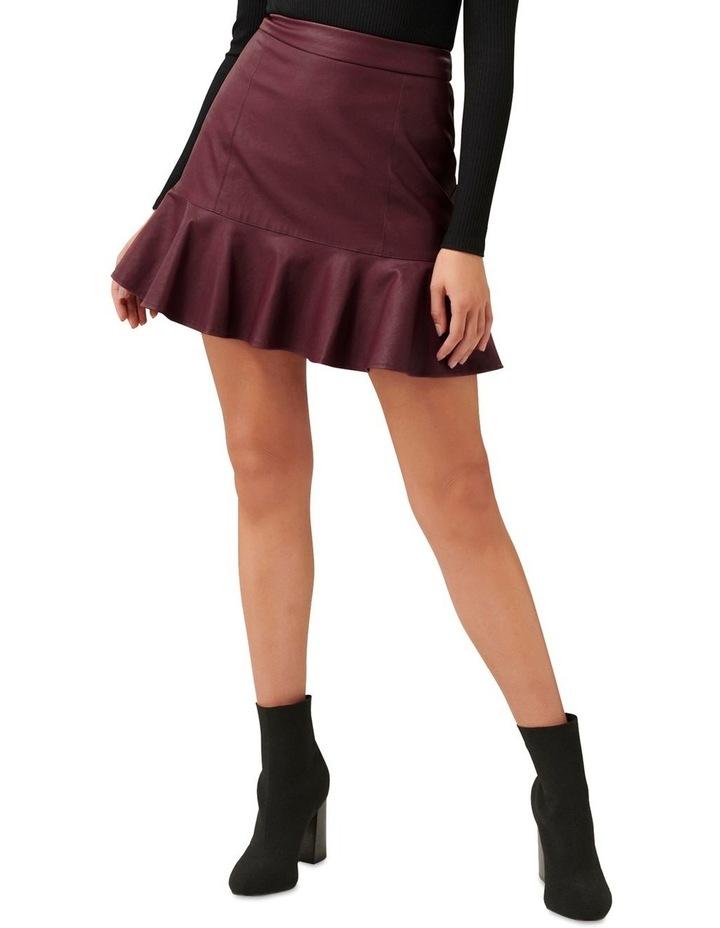 Rita PU Fit & Flare Skirt image 1