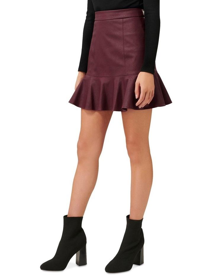Rita PU Fit & Flare Skirt image 2