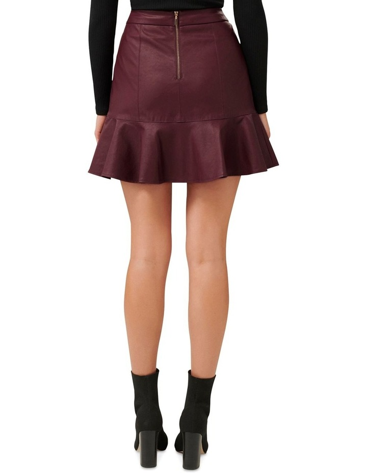 Rita PU Fit & Flare Skirt image 3