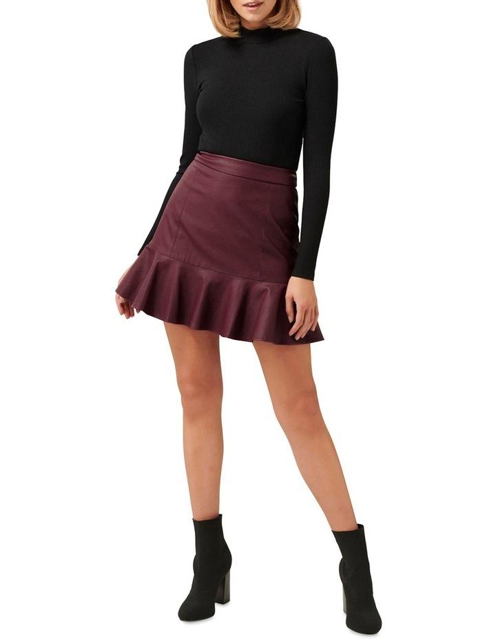 Rita PU Fit & Flare Skirt image 4