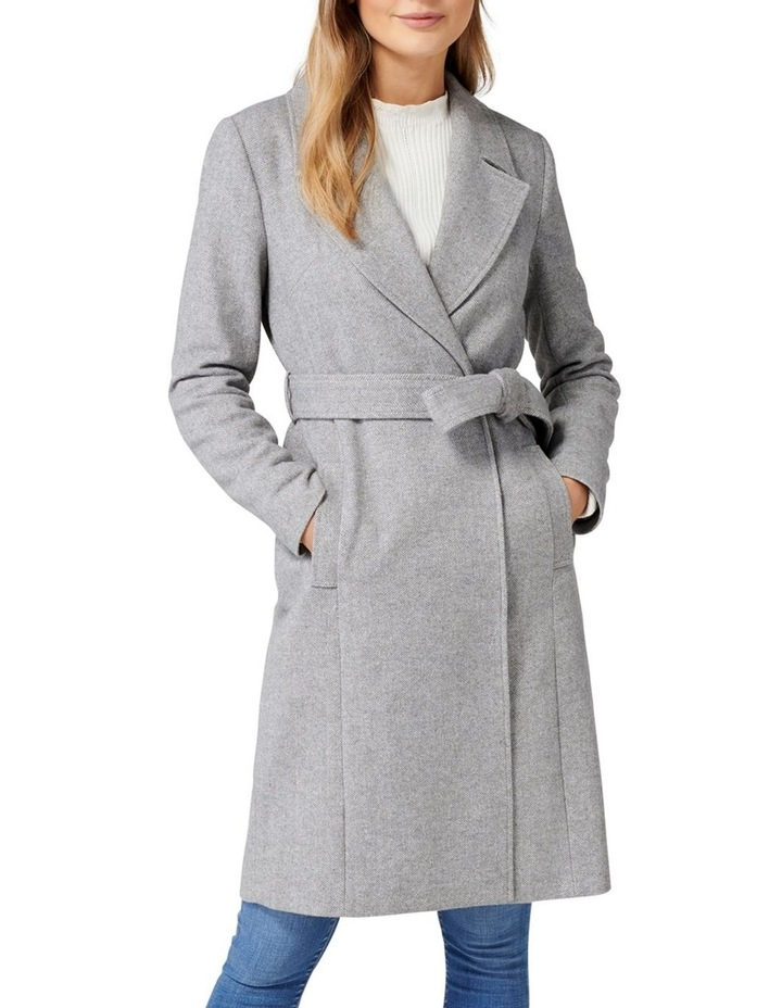 Eden Herringbone Wrap Coat image 1