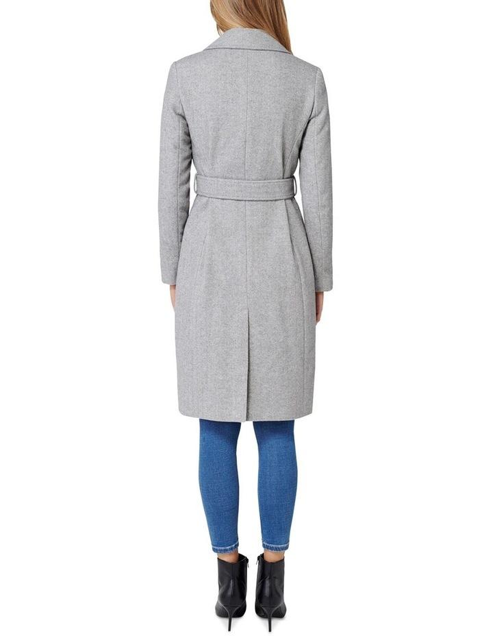 Eden Herringbone Wrap Coat image 4